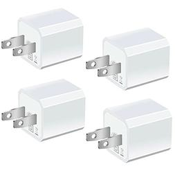 USB Wall Charger, 4-Pack Universal 5V/1A Mini Portable Trave