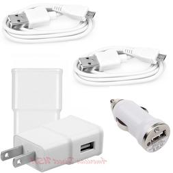 Wall+Car+2X USB Cable Power Charger For Amazon Kindle Fire T