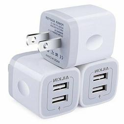 Wall Charger,  5V/2.1AMP Ailkin 2-Port USB Wall Charger Home
