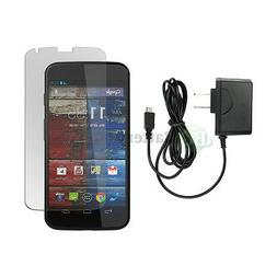 Wall Charger+LCD Screen Protector for Android Phone Motorola