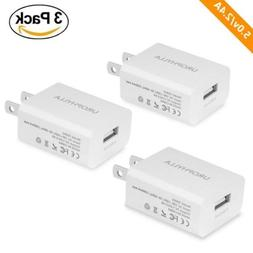 Wall Charger, UROPHYLLA 3-Pack 5V/2.4A Mini Universal Portab
