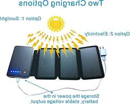 Zebora Powerful Portable Solar Charger Equipped with 4 Folda
