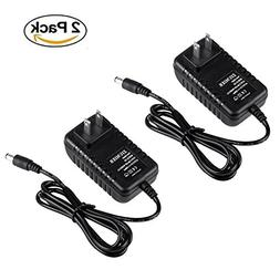 2 PACK, ZIUMIER AC to DC 5V 2A Regulated Power Supply Wall A