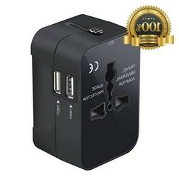 Travel Adapter, Worldwide All in One Universal Travel Adapto