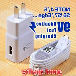 Adaptive Fast Rapid Wall Charger Cable FOR Samsung Galaxy No