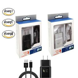Adaptive Fast Wall Charger USB Android Cable For Samsung Gal