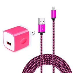 Adaptive Wall Charger Adapter with 6ft Micro USB Cable Andro