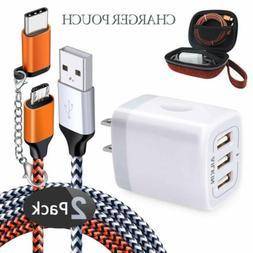 Ailkin Micro USB Cables&Wall Charger Adapter 6 in 1 Travel O