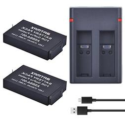Batmax 2Pcs 2720mAh Batteries for Gopro Fusion Battery + Dua