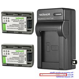 Kastar Battery AC Wall Charger for Sony NP-FP50 NP-FP51 Sony