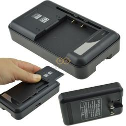Black Universal Wall Battery Charger For Samsung Galaxy Seri