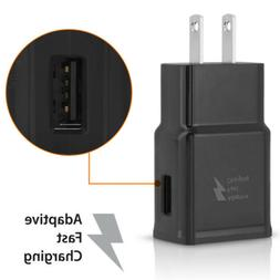 Black US Plug Fast Wall Charger Adapter For Samsung Galaxy S