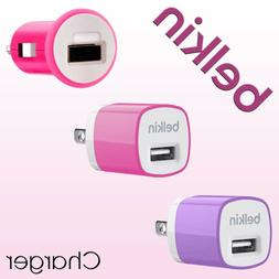 Belkin Car Charger // Home Charger // Wall Charger // Pink /