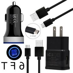 Cell Phone Accessories Wall&Car Charger 6FT Cable for Google
