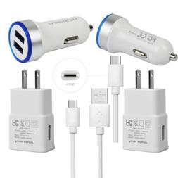 Cell Phone Wall Car Charger Cable for ZTE Blade Zmax Pro LG