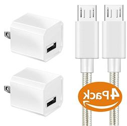Charger, Certified 5W Universal Portable Travel USB Wall Cha