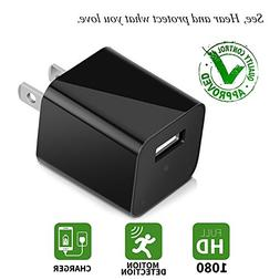 Charger Camera USB Wall Charger Camera Mini USB Security Cam