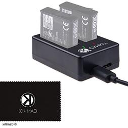 CamKix Dual Charger Compatible with GoPro Hero 7/6 / 5 Batte