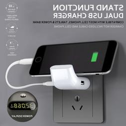 Dual USB Smart Display Stand Portable Fast Charging Travel H