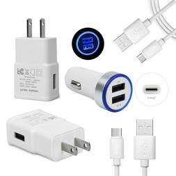 Fast Car & Wall Charger USB Type C Cable for LG Stylo 4 G7 V