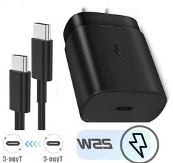 Fast Charger 25W PD Type C Wall /Travel Plug For Samsung Gal