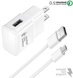 Galaxy S7 Adaptive Fast Wall Charger Micro USB Cable Set - C
