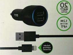 Including cable&USB 2-port Car Charger Belkin  for iphone