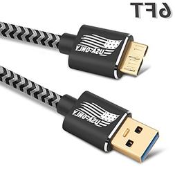 ONSON Micro USB Cable,4Pack 3FT/6FT/6FT/10FT Long Premium Ny