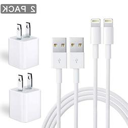 iPhone Charger, MFi Certified Charging Cable, Travel Wall Po
