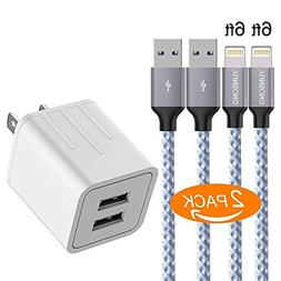 iPhone Charger, YUNSONG 4.2A 21W Dual Port Travel Power Adap