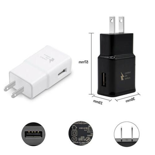 2 Adaptive Wall AC Charger For Samsung USB