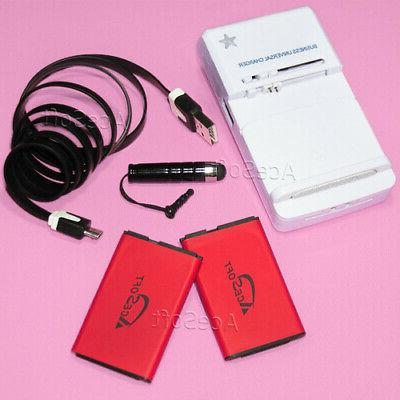 1350mah battery wall charger data cable