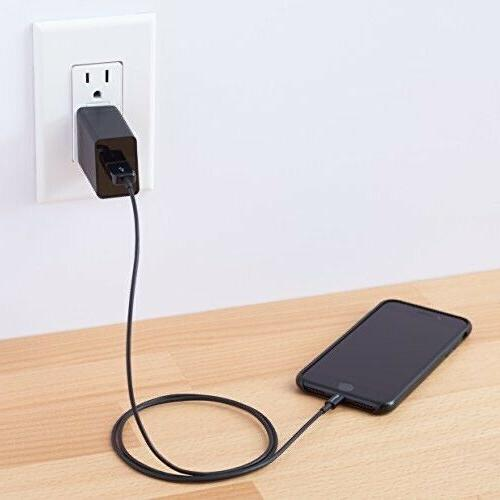 2 pack One-Port USB Black Wall Charger 2.4 SHIPPING.