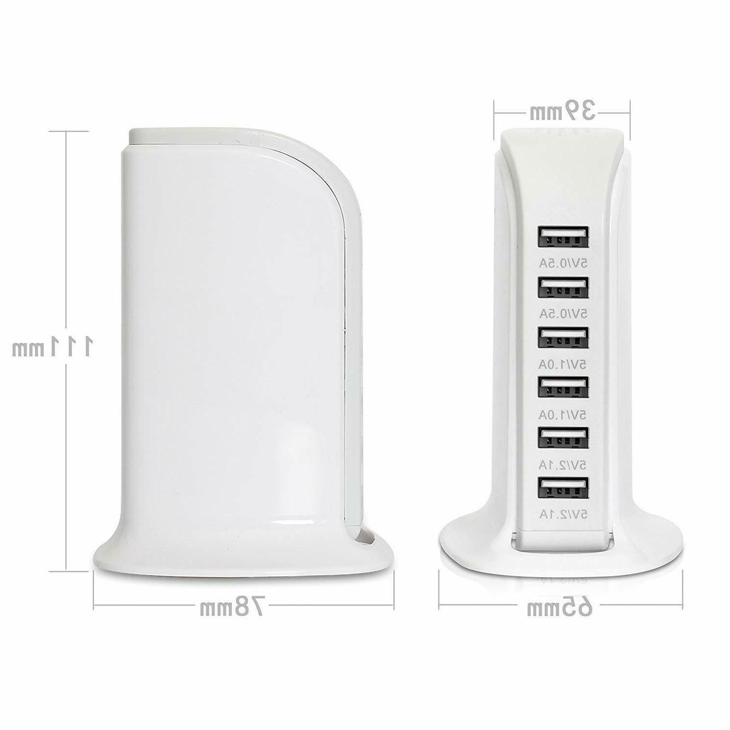 2 Pack of 6 Dock Tower Hub Rapid Station US