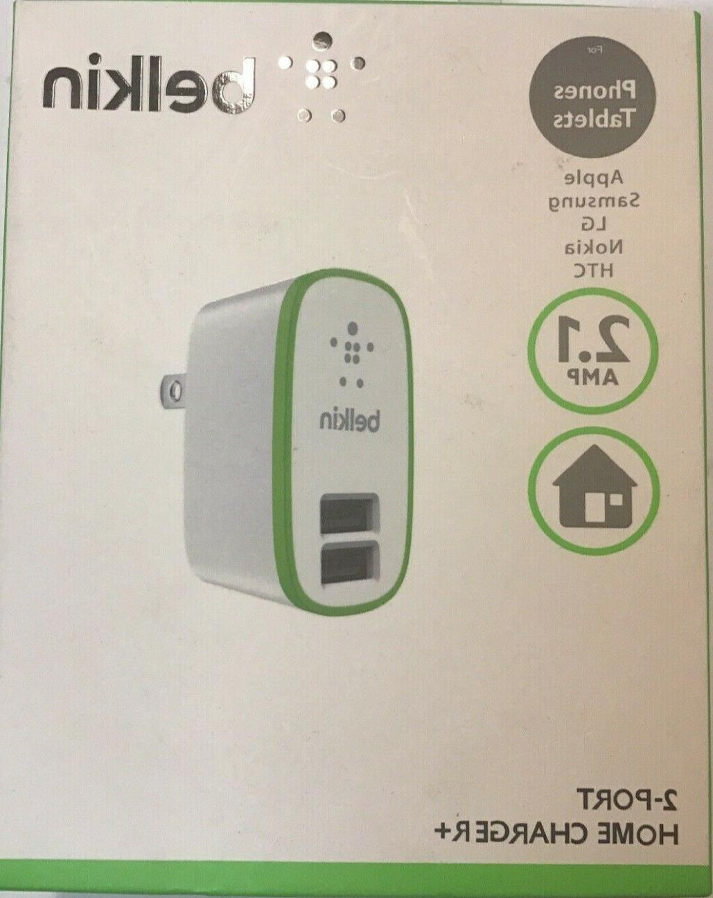 2 port usb home charger ac wall