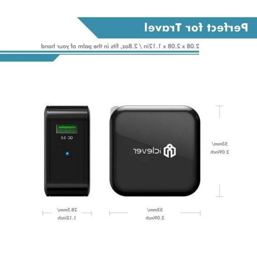 24W 3.0, iClever USB Wall Charger (Quick 2.0...
