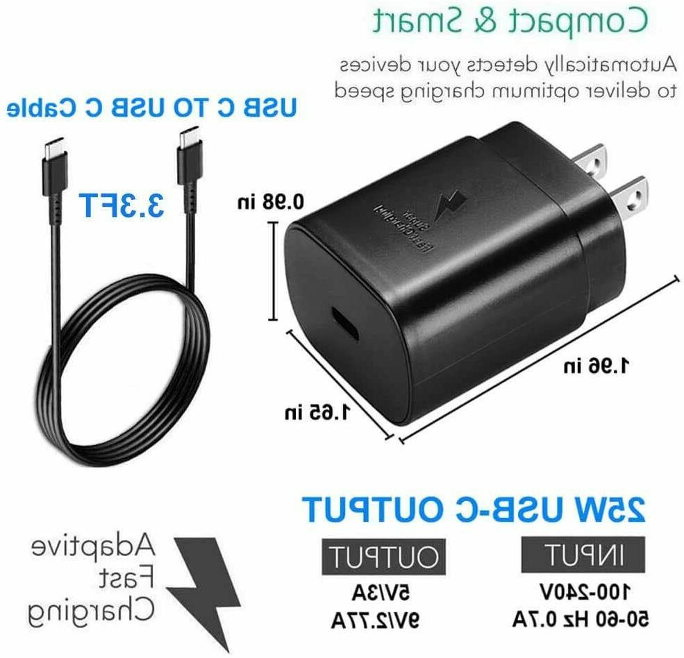 25w USB-C 6ft Cable Samsung Galaxy S20 5G