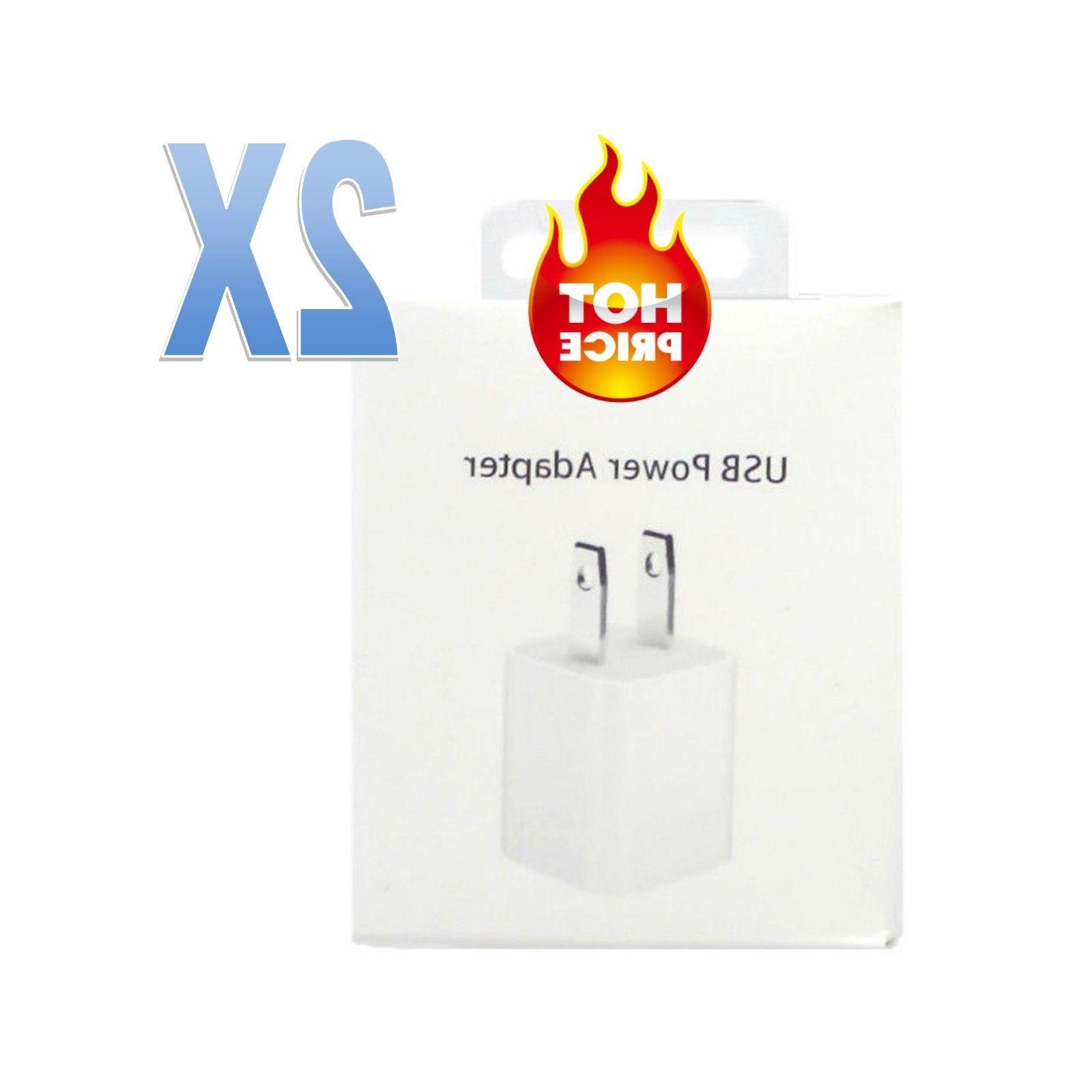 2X OEM USB Wall Charger Cube Power Adapter for Apple iPhone