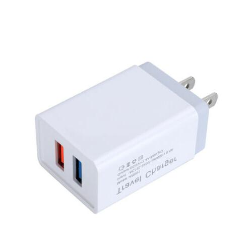 2.4A USB Fast Wall Charger Power Adapter AC US Plug For iPho