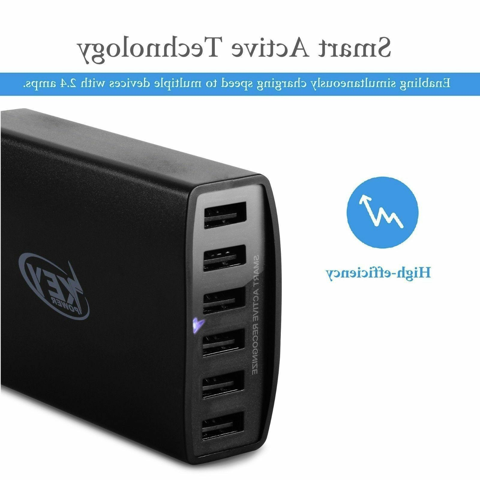 4 Port USB Wall Charger 15W 3.1A High Speed Travel Charger P