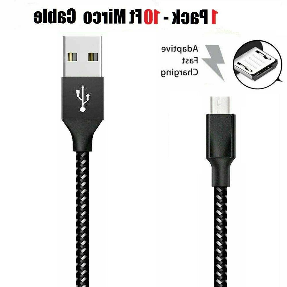 3/6/10Ft Charger Data Cable Cord Android Samsung