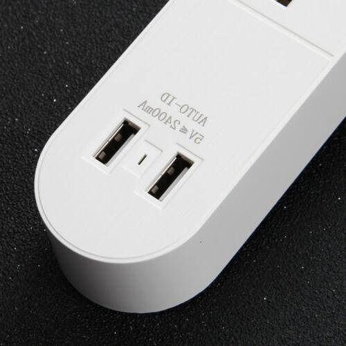 3 Wall Charger Port Surge Protector With Multi