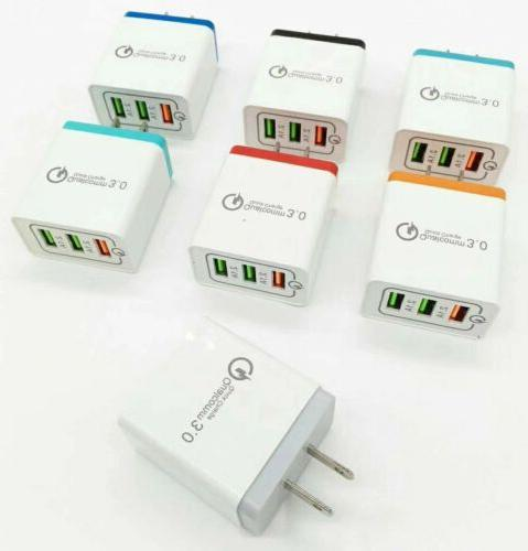 3 Port QC Fast Quick Hub Wall Charger Power Adapter