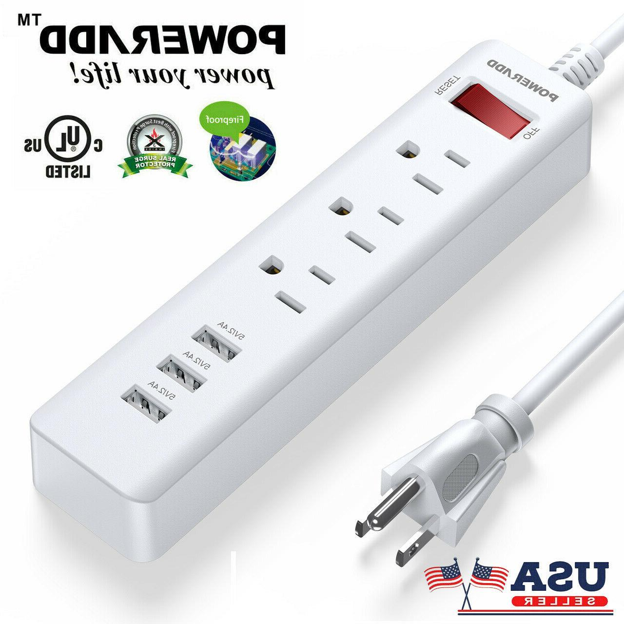 3 power strip surge protector