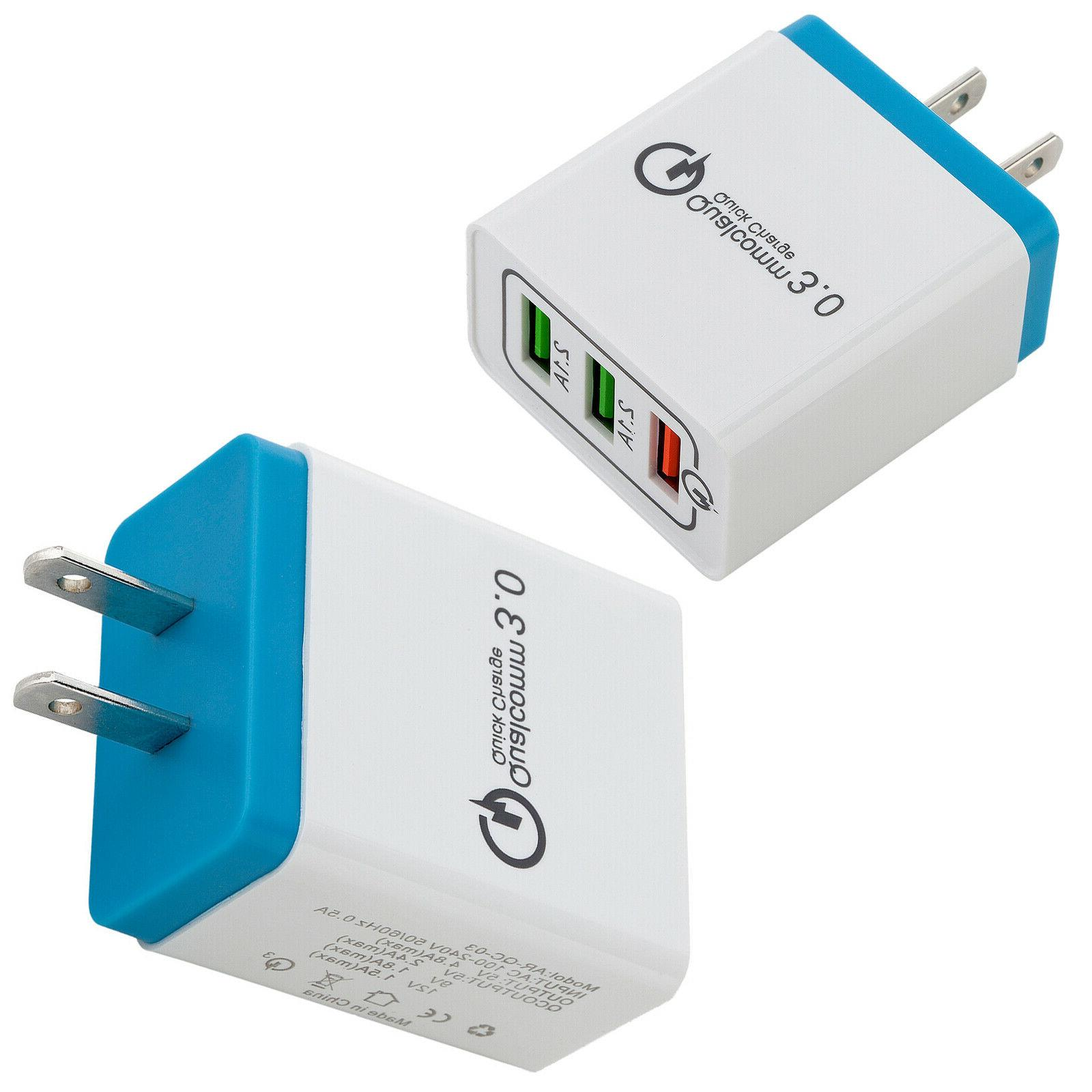 30W Charge QC Charger Adapter US For iPhone/Samsung