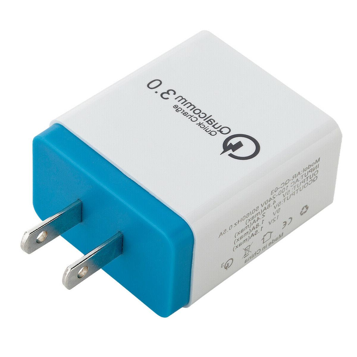 30W Fast QC 3.0 USB Charger Plug For iPhone/Samsung