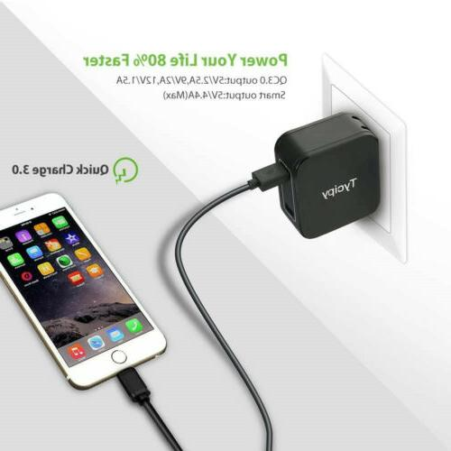 30W Fast Charge QC 3.0 Charger For iPhone/Samsung