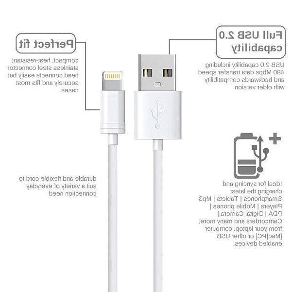 3ft,6ft,10ft USB Power Cable 5W Wall