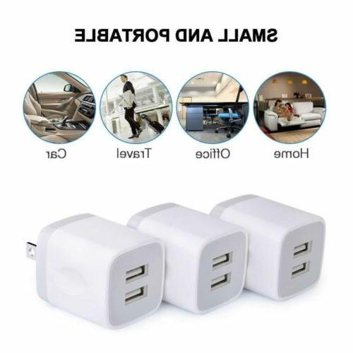 2/3x Wall Phone Charging Base Cube Charger Universal