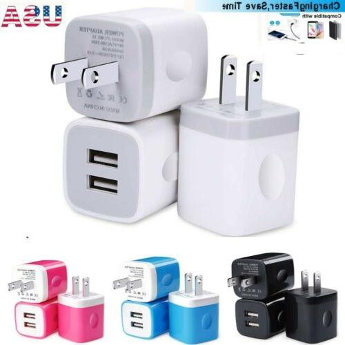 2 3x dual port usb wall charger